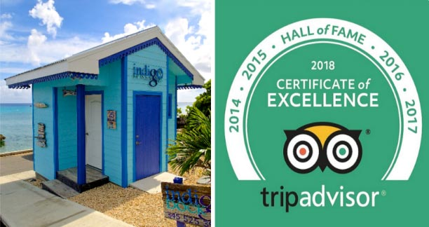 """INDIGO DIVERS EARNS 2018 TRIPADVISOR CERTIFICATE OF EXCELLENCE """"HALL OF FAME"""" RECOGNITION"""