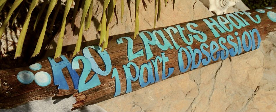 Custom driftwood signs by Kate